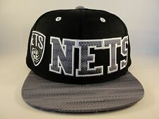 adidas BROOKLYN NEW YORK NETS NBA Basketball Wool Snapback Baseball Hat Cap NWT
