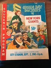 1963 Green Bay Packers Souvenir Program (September 2 vs New York Giants)