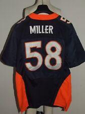 MAGLIA SHIRT TRIKOT FOOTBALL AMERICANO NFL DENVER BRONCOS MILLER 58 tg. 40