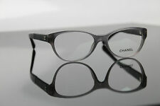 New CHANEL 3309-Q 1510 Eyeglasses Frame Transparent Grey/Black $378 51mm