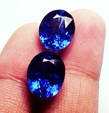 Natural Blue Sapphire Loose Gemstone 8 to 10  ct Oval Shape Certified Pairs R225