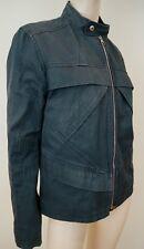 Louis Vuitton Paris Menswear Anthracite Gris bleu Coton Doublé Décontracté Veste Sz:50