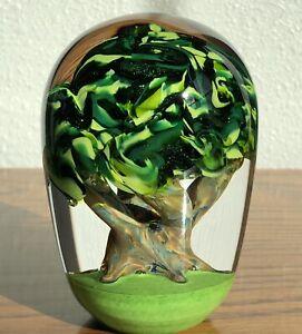 Glass Eye Studio GES 12 Tree Of Life Environmental Series Art Glass Paperweight