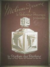 PUBLICITE DE PRESSE MOLINARD PARFUM PROVENCAL PARFUM FRENCH ADVERTISING 1959