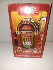 Coca-Cola Rock'n Roll JukeBox Shaped Cookie Jar 2002 Gibson