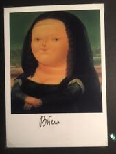 "FERNANDO BOTERO HAND SIGNED OFFSET LITHOGRAPH OF ""MONA LISA, AGE 12"", 1959"