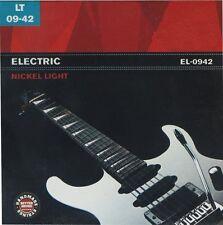 Vernickelter Stahl Saitensatz für E-Gitarre , 09-42, Light, I1°