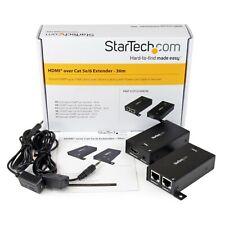 StarTech.com HDMI Over Dual CAT5/5e/6 Extender with Infrared IR - 30m Power Free