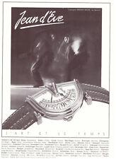 Jean D'EVE-Cronografo -- vecchio annuncio-pubblicità con loghi pubblicitari pagina di visualizzazione
