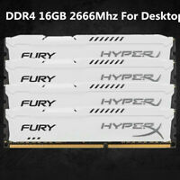 For Kingston HyperX Fury 16GB 32GB 64GB 288-Pin DDR4 White Desktop Memory DIMM C
