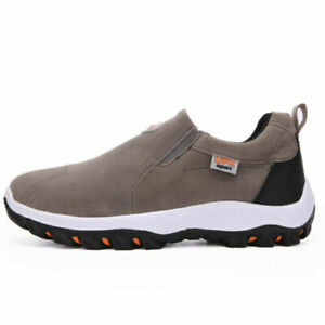 Mens Hiking Sport Athletic Shoes Slip On Casual Sneakers Outdoor Walking Driving