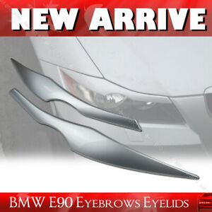 2011 328i Painted 354 Silver Fit For BMW E90 HEADLIGHT EYEBROWS EYELIDS Cover