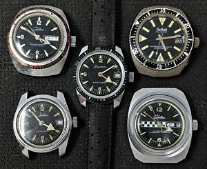 CHATEAU, LUCERNE, SHEFFIELD ALLSPORT, Mechanical Black Dial Swiss Divers Watches