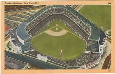 Yankee Stadium NEW YORK CITY linen postcard unposted baseball stadium