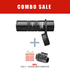 FAB Tactical 1 inch Water Resistance Flashlight w/ FREE Mount Picatinny Adapter