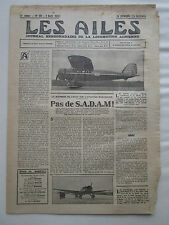 AILES 1931 511 SADAM POTEZ 40 SAHARA AVIATION LEGERE SURVOL VILLE PEDROPLAN