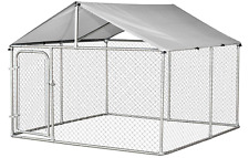 7.5'x7.5' Outdoor Pet Dog Run House Kennel Shade Cage Enclosure w/ Cover Playpen