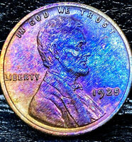 """1925 P Lincoln Wheat Penny Cent- """"Beautiful Toning"""" SUPERB GEM HIGH GRADE #00"""