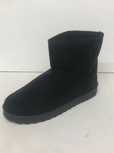 BN Faux Suede Black Ankle Boots Size 7