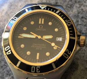 Omega Seamaster Professional 200M Date Quartz 2 Two Tone Stainless Steel 38mm