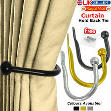 Curtain Tie Back Hold Backs Black Silver & Gold Metal Holders High-Quality New