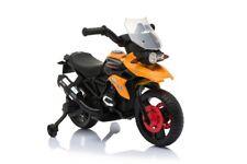 Moto Elettrica Enduro Per Bambini con Luci e Suoni rotelle 6V Arancione