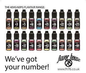 Vape Liquid 10ml Tobacco E Liquid Juice 6mg 12mg 18mg Nicotine Flavour House 76