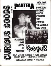 Curious Goods Issue #7 Pantera TNT Blitzspeer GWAR L7 Crowbar 1990s Zine