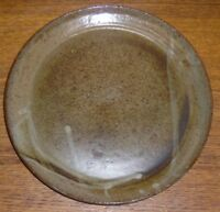 Studio Art Pottery Plate - Brandon Gray - 8 1/4""