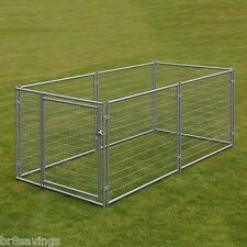 LARGE CHAIN LINK 4'x10'x5' DOG KENNEL PET PEN FENCE OUTDOOR NEW FREE SHIP