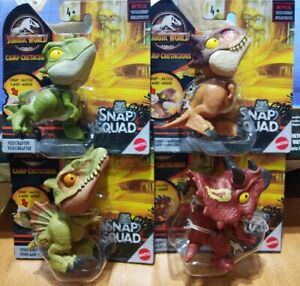2021 Jurassic World Camp Cretaceous Snap Squad Wave 9 Triceratops Full Set of 4