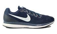 Nike Air Zoom Pegasus 36 Mens Running Shoes Sneakers Navy Blue Size 14