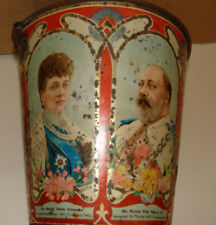 King Edward VII UK Royal 3 Generation Metal Pail George V Edward VIII George VI