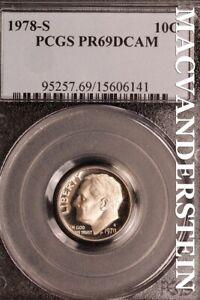 1978-S Roosevelt Dime-PCGS PR 69 DCAM  Proof Cameo #SLN227