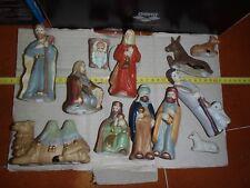 Presepe in ceramica NUOVO mai usato 12 pezzi vedi foto lotto stock presepio
