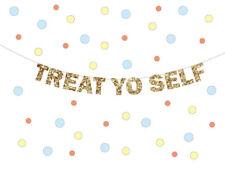 TREAT YO SELF Banner, Ice Cream social Banner, Wedding Reception Dessert Table