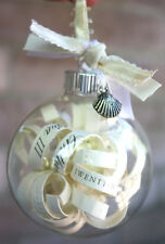 25* xmas glass memory bauble 5cm table xmas tree wedding centrepice theme