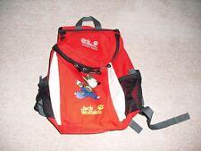 roter Rucksack  Jack Wolfskin Jacky Pack für Kinder