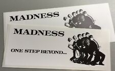 2 Unused Vinyl Stickers 2tone scooters 19cm skinhead specials madness ska laptop
