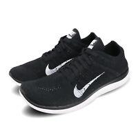 Nike Free 4.0 Flyknit 2020 Black White Barefoot Men Running Shoes 631053-001