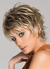 Wie Echthaar! Kurz Braun blonde Perücke Mode Damen Haar Perücken Wig Neu Trends