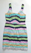 Anthropologie EUC Rainbow Stripe Sheath Dress by Tracy Reese - SZ 8