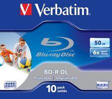 Verbatim Bd-r DL 50gb 6x Wide Printable 10pk (x6l)