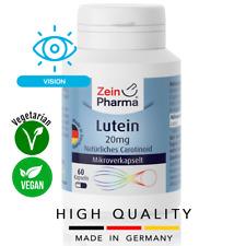 Lutein 20 mg (60 capsules) Eyes & Vision health VEGAN ZEINPHARMA