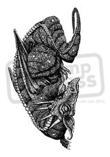 A7 'Sleeping Dragon' Unmounted Rubber Stamp (SP00007849)