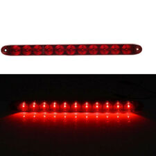 "15"" 11LED Waterproof Light Bar Stop Turn Tail 3rd brake Light Truck Trailer Red"