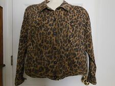 Style & Co Woman's Denim Jacket  Leopard print size 16W