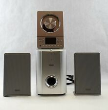 Teac Micro Hi-Fi System Cd-X8 Stereo Ultra Thin With Subwoofer and Cables
