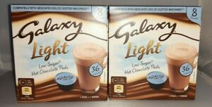 2 x Boxes Galaxy Light Hot Chocolate Pods Dolce Gusto Compatible 16 x 9.5g NEW