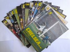 LOT/BUNDLE X15-CHELSEA FC-1985/86 HOME PROGRAMMES, BRILLIANT CONDITION.